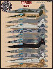 "1/32 Furball ""TOPGUN Tigers "" F-5E decals for the Hasegawa Kit"