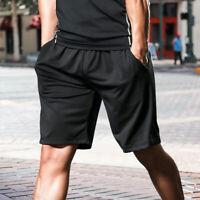 Mens Pocket Shorts GYM Sport Pants Jogger Casual Workout Running Bermuda Trouser