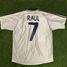 1998 2000 Real Madrid Raul Home Jersey Shirt Kit White Medium M 7 Adidas La Liga