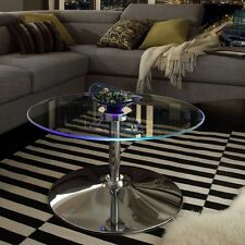 Mariposa Chrome Coffee Table Sturdy and Durable Metal Construction LED Accent