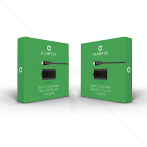 Xbox One Charge and Play Kit Rechargeable Battery & Charging Cable (2 Pack)