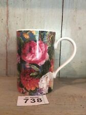 "Dunoon Mug Marked ""Kew Adapted from 19th Century Designs"" Stunning Floral Design"