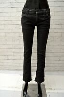 Jeans Nero Donna LACOSTE Taglia 38 Pantalone Scuro Pants Woman Black Slim Fit