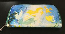 Hot Topic Disney Little Mermaid Faded Ariel Zipper Teal Green Wallet