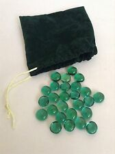 Green Jewels Gems & Velvet Pouch~Dread Pirate Game Treasure Chest Booty Props