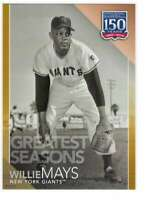 Willie Mays 2019 Topps Update 150 Years of Professional Baseball 5x7 Gold #150-7