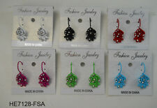 Wholesale Jewelry lot 6 pairs Colorful Fashion French Clip Earrings  #730-9