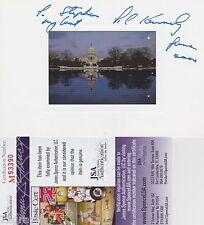 Edward (Ted) Kennedy signed Capitol Photo Card w/ JSA COA #M93390 John