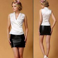 Womens Girls 19MM 100% Pure Silk V Neck Vest Singlet Tee T Shirts Tops Ailisilk