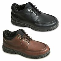 Padders CREST Mens Leather Extra Wide Waterproof Lace Up Outdoor Shoes Black,Tan