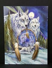 Happy Birthday Greeting Card Wolf Dream Catcher Jody Bergsma Art Leanin Tree