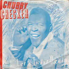 "CHUBBY CHECKER - Let's Twist Again (Swedish 2 Tk 1986 7"" Single PS)"