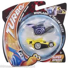 ❀ DREAMWORKS 2013 TURBO MOVIE SHELL RACERS 2 PC WHIPLASH vs YELLOW RACER NIP