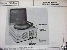 SONORA RGMF-212, -230 RADIO-PHONOGRAPH COMBO PHOTOFACT