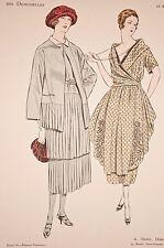 Mode féminine, 1920,2 robes, journal des demoiselles, élégances parisiennes