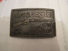 Winchester Repeating Arms New Haven Conn Gun Manufacture Brass Belt Buckle