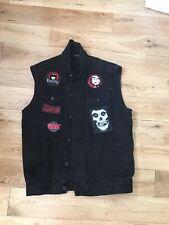G72 Black Denim Sleeveless Customised Misfits Slipknot Jacket XL Chest 46