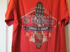 NWT Men's NO BAD DAYS RED AMERICANA SURFER THEME GRAPHIC T-SHIRT sz Small