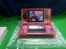 Nintendo DS Lite Console New CLEAR PINK  Shell With Charger Very Nice Condition