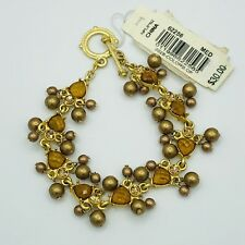 2028 Jewelry by 1928 Jewelry Amber with Bronze Pearls Bracelet Toggle Clasp