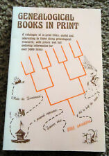 Genealogical Books in Print: Catalogue of titles for genealogical research