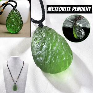 Natural Green Crystal Pendant Gem Moldavite Meteorite Impact Glass Necklace US