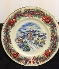 2000 Lenox Villages Around The World New England Hilltop Collector Plate NWB