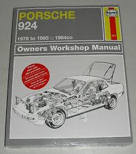 Manuale Riparazione Porsche 924 + Turbo + Carrera Gt,Anno di Costruzione 1976 -