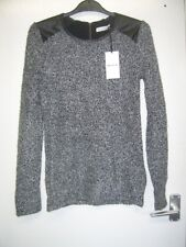 Whistles Black & Grey Jumper Size 6