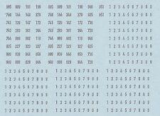 DECAL,TRASFERIBILI FS MARCATURE FRONTALI LOCO DISEL VARIE EPOCHE sc.N (160.03)