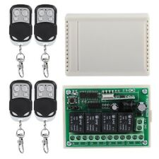 Wireless 4-Way Remote Control Switch DC 12V Relay Receiver Multi-function 433MHz