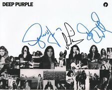 "Deep Purple REAL hand SIGNED 8x10"" Photo #2 COA by Glenn Hughes Coverdale Paice"