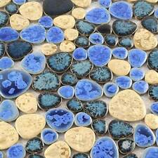 Pool Tiles Blue Swimming Floor Mosaic Tile Yellow Bathroom Wall Ceramic  (11 PCS