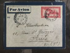 1935 Vietnam French Indochina Cover To The Illustration In Paris France