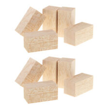 10Pack Balsa Wood Blocks Rods (80/60mm) Height for DIY Woodworking Modeling
