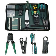 RJ45 RJ11 Ethernet Cable Hand Crimper Network Tester Tool Kit Punch Down Impact