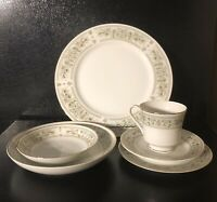 Vintage Empress China ARCADIA 1015 6 Piece Place Setting 2 Bowls 3 Plates Teacup
