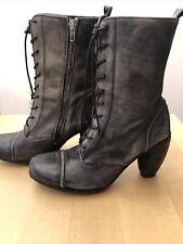 Rare All Saints Boot 39 Black. Beautifully Distresses. No Reserve Auction!!!!