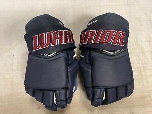 Warrior Covert QRE20 Pro Stock Hockey Gloves Navy Blue OILERS 7345