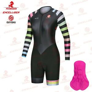 Muti Color Women's Cycling Jumpsuit Summer Cycling Skinsuit For Female