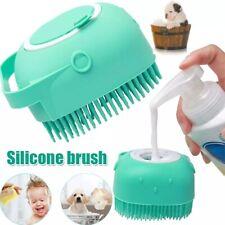 Pet Dog Shampoo Brush Cat Bath Massage Silicone Comb Grooming Scrubber Hair
