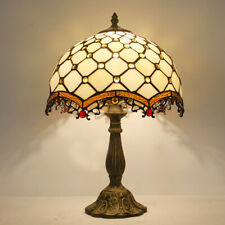 "Dia 11.81"" Retro Tiffany Style Dragon tail Stained Glass Table Reading Lamp"