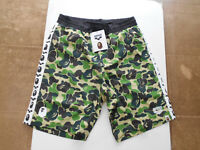 AUTHENTIC A BATHING APE BAPE x ARENA SHORT PANTS SWIMWEAR GREEN XL NEW RARE