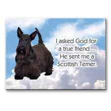 Scottish Terrier True Friend From God Fridge Magnet No1
