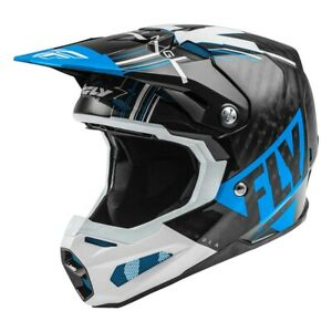 Fly Racing Formula Carbon Motocross Offroad Race Helmet Blue White Black Adults