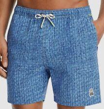 $360 Psycho Bunny Men's Blue Drawstring Swimming Swimwear Swim Trunks Shorts 2XL