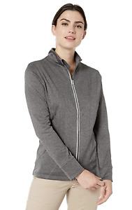 Callaway Women's Weather Series Thermal Opti-dri Full-zip Waffle Jacket Top XS S