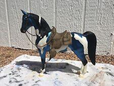 Breyer Model Horse Matte Metalic Blue Black Points Paint Western Horse   =)