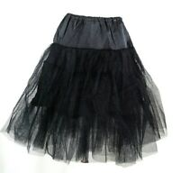 60's Square Dance Costume Black Petticoat Three layers underskirt