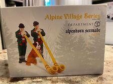 Dept 56 Alpine Village Alpenhorn Serenade Men St Bernard Dog Figure 4042391 New